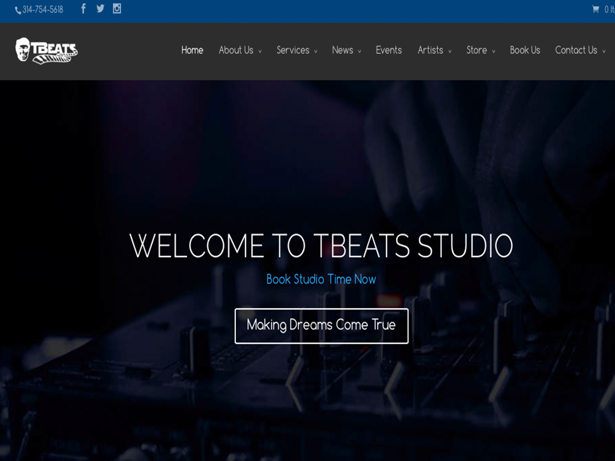 TBeats Studio Website